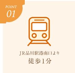 ポイント1 JR品川駅港南口より 徒歩1分